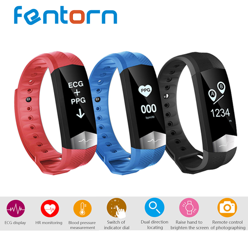 Fentorn CD01 ECG Blood pressure HR Smart Band Bluetooth Sport Smart wristband Fitness tracker Smart Bracelet