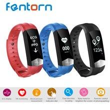 Fentorn CD01 ЭКГ артериального давления HR Смарт Bluetooth Спорт умный Браслет Фитнес трекер Смарт-браслет для IOS Android