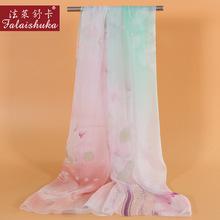 Neue Frühjahr Frau Silk Schals Schal Mode Gedruckt 100 Seide Langen Schal Schal Hohe-Grade Silk Schals Weibliche Geschenk FW316 cheap WOMEN Schal schal 175cm Charles Perra Erwachsene