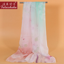 New Spring Woman Silk Scarves Scarf Fashion Printed 100% Long Shawl High-Grade Female Gift FW316