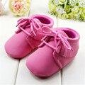Bebê Da Menina do Menino Sapatos Mocassins Macio Moccs Franja Macio Soled Bebe Não-slip Calçados Crib Shoes PU de Couro Camurça recém-nascidos