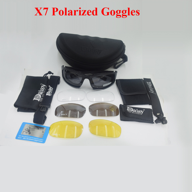 Aliexpress com : Buy DAISY X7 Goggles Bullet proof Airsoft Shooting Gafas  Smoke Lens Motorcycle Cycling Goggles Men Military X7 Polarized Sunglasses