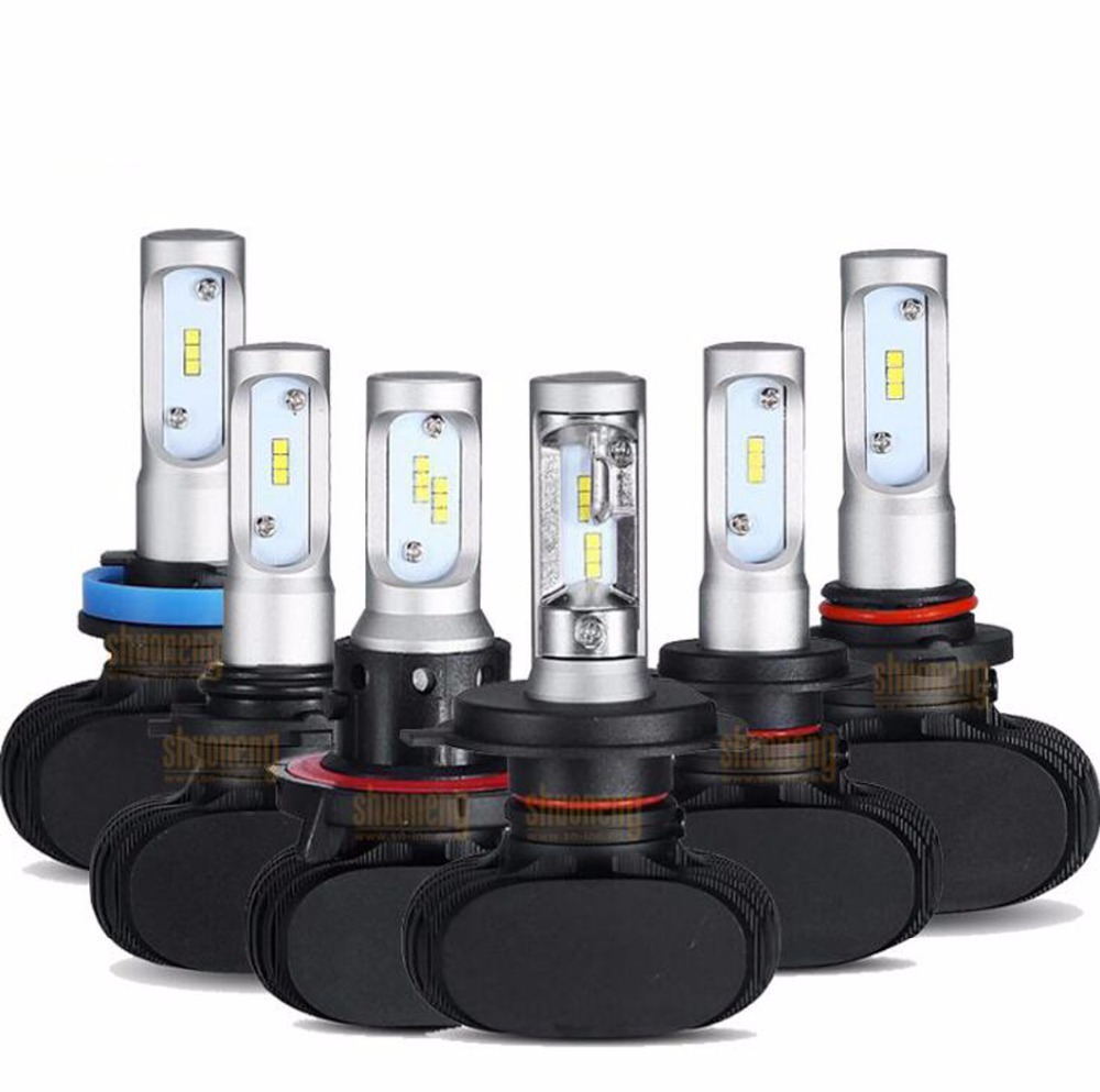 White Extremely Bright H11//H8//H9 LED Headlight Bulbs Conversion Kit Replace as Low Beam or Fog Light 12Pcs CSP Chips 6000K,DOT Approved 1 Year Warranty