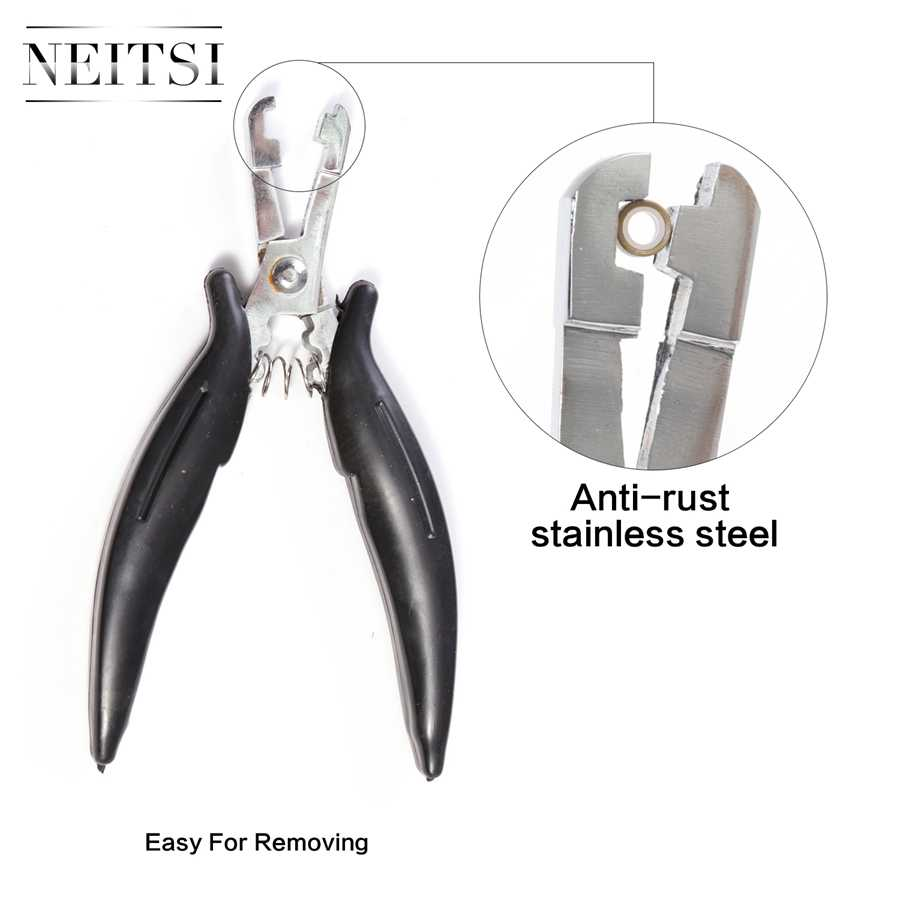 Neitsi 5 оттенков профессиональные микро кольца Клещи Инструменты для Кератин наращивание волос для укладки волос плоскогубцы черный/красного цвета 1 шт./лот