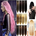 26inch 170g Straight Clip in Full Head Synthetic Hair Styling 18 Clip in Hair Extension 8 Piece Blonde Fake Hair Piece