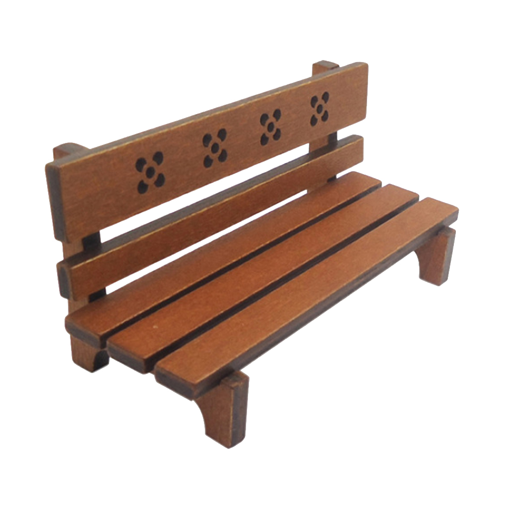 Admirable Us 6 65 47 Off Dollhouse Miniature Outdoor Garden Chair Wooden Park Bench Long Chair Room Garden Furniture Accessories Brown In Furniture Toys From Alphanode Cool Chair Designs And Ideas Alphanodeonline