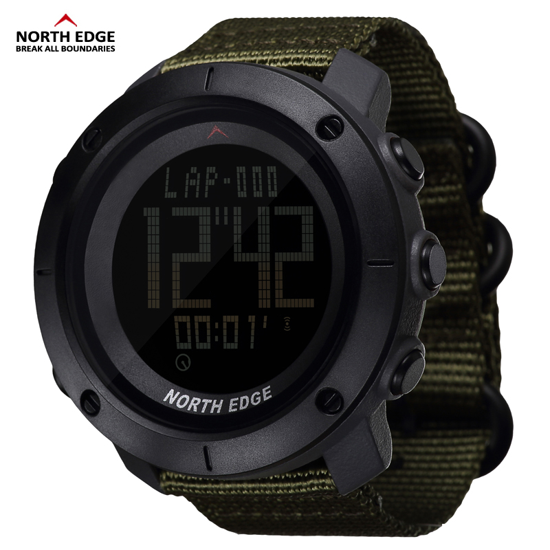 Army-Watch Timer Digital Military North-Edge Waterproof Hours Running Sports Swimming-Water-Resistant