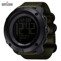 Man sports digital military army watch Waterproof Hours Running Swimming water resistant 50m stopwatch timer NORTH EDGE