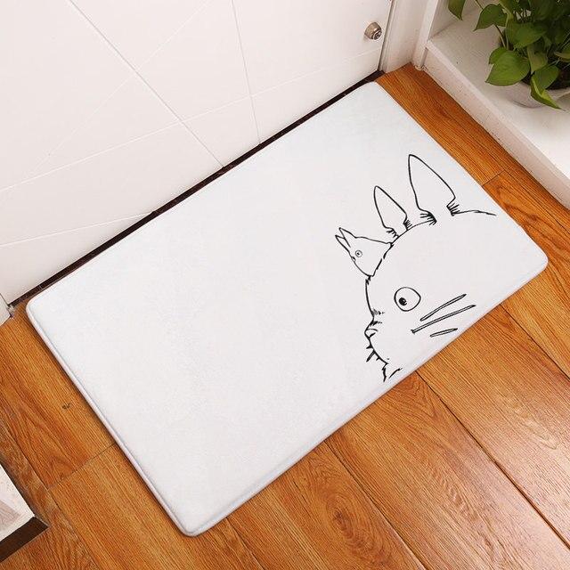 Homing New Arrival Totoro cat cute animal Fashion Rectangular Mats 40*60cm Entrance Doormats Washable Kitchen Floor Bathroom