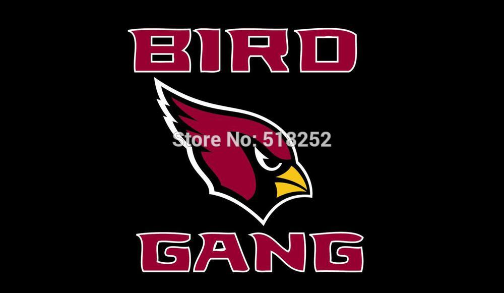 Arizona Cardinals Bird Gang Flag 3x5 FT 100D150X90CM Banner Polyester flag 5076, free shipping