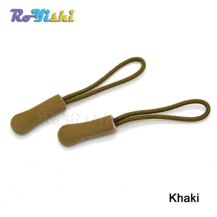 10pcs Mix Color Cord Zipper Pull Strap Lariat Black For Apparel Accessories