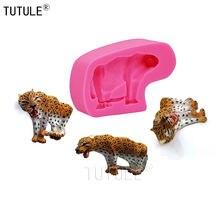 Гаджеты леопардовая силиконовая форма в виде кота животное болотная