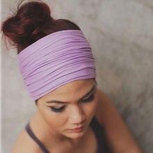 46db655b4849f7 Feste Breite Patchwork Baumwolle Sport Stirnband Für Frauen Erwachsene Mode  Kausalen Elastische Turban Haarband Headwraps Haar