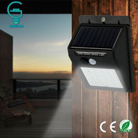 Gitex Outdoor Solar Lamp Waterproof PIR Motion Sensor Wall Light 6 25 LED Solar Power Light