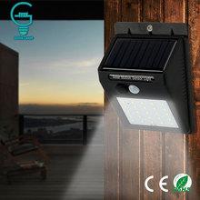 Outdoor Solar Lampa wodoodporna PIR Motion Sensor ściana światła 25 30 LED Solar Power Light oszczędność energii Garden Security lamp tanie tanio Słoneczne Brak Nowoczesne CCC RoHS CE Bateria litowa Lampa czujnika ruchu PIR IP65 Awaryjnego Żarówki LED Słoneczne światło zewnętrzne
