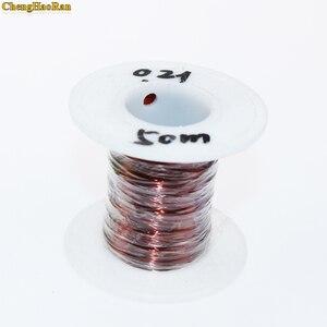 Image 1 - ChengHaoRan 0.21 ملليمتر x 50 متر 100 متر 500 متر بيع بواسطة متر QZ 2 130 جديد البولي يوريثين الأسلاك المصقولة النحاس سلك