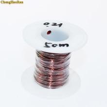 ChengHaoRan 0.21mm x 50 m 100 m 500 m vender por metro QZ 2 130 Novo Poliuretano Esmaltado do Fio de Cobre do fio