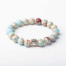 Meajoe 10 мм Shoushan камень кошка коготь бусины браслеты из круглого натурального камня бусины браслеты для женщин