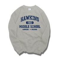 Stranger Things Hawkins Middle School Eleven Sweatshirts Thicken Pullovers Warm Clothes Top Men Women Winter Autumn