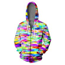 WAMNI Mosaic Novelty 3D Print Hooded Sweatshirt Harajuku Multi-color Fashion Autumn Stylish Zipper Hoodie Tracksuit Dropshipping