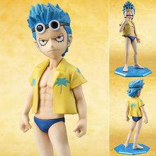 Anime Cartoon One Piece POP Franky Childhood Ver. PVC Action Figure Collectible Model Toy 12cm KT680