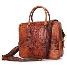 Alligator Pattern Leather Handbag Purse Women's Messenger Bag 7366B