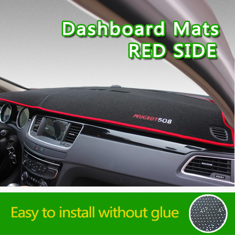 Car Dash board Mats Dashboard Cover Carpet Non-slip Mats For Peugeot 301 307 308 408 508 2008 3008 4008 5008 500 car models more image