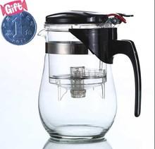 Manual Teapot With Stainless Steel Filter Glass Tea Pot Circular Heat Resistant Teapots Flower Tea Set Office Tea Kettle 1200ML