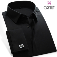 ORINERY Hot Sale Solid Men Shirt Slim Fit French Cuff Dress Shirt with Cufflinks High Quality Tuxedo Shirt Brand Clothing
