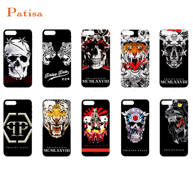 f7001468126 Luxury trend PHILIPP PLEIN Skull tiger Matte hard plastic With retail box cover  case for iphone 6 6S 7 8 plus X 10 phone cases