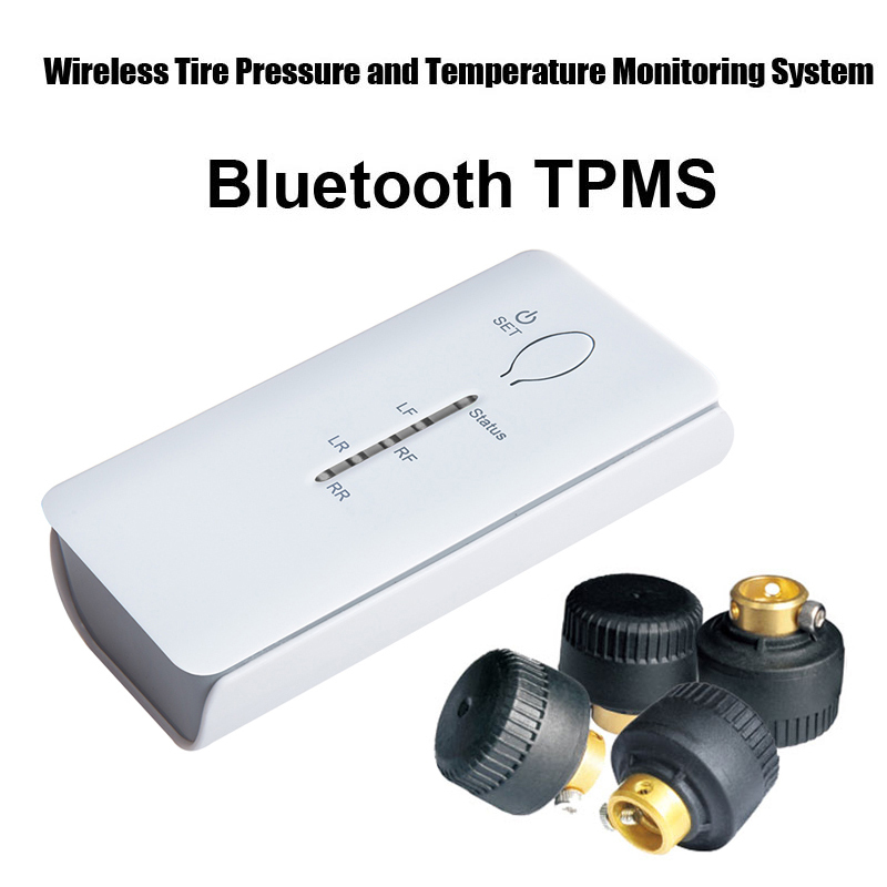 Bluetooth TPMS for andriod phone Wireless Tire Pressure Monitoring System 4pcs External sensor