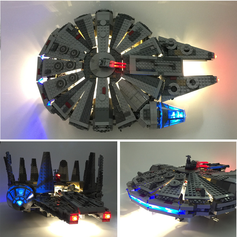 Blocks Kit The Light Falcon For Lepin Millennium Awakens Force Led Building Lego And Star Wars hrtxQdCBso
