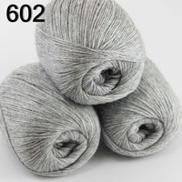 High Quality 100 Pure Cashmere Luxury Warm And Soft Hand Knitting Yarn Silver Grey 233 602