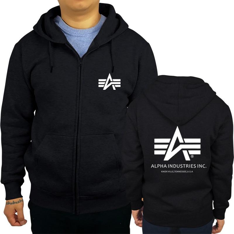 new arrived Alpha Industries shubuzhi men zipper sweatshirt autumn luxury brand fashion rock hoodies casual hip-hop cool hoody sweatshirt
