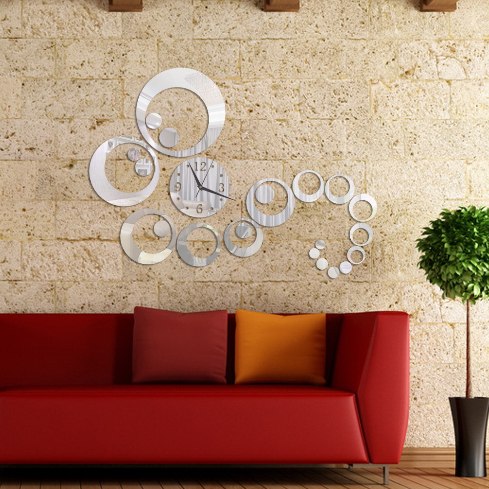 Acrylic wall stickers home decor diy 3d sticker europe for 3d acrylic mirror wall sticker clock decoration decor