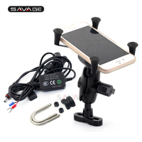 X Grip Phone Holder USB Charger For BMW R1150GS R1150R R1200GS R1200R G650GS K1200R K1300R Motorcycle GPS Navigation Bracket