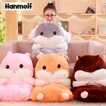 Pillow Seat-Cushion-Set Jointed-Animals Brown Kids Chair-Lumbar Hamster Christmas-Gift