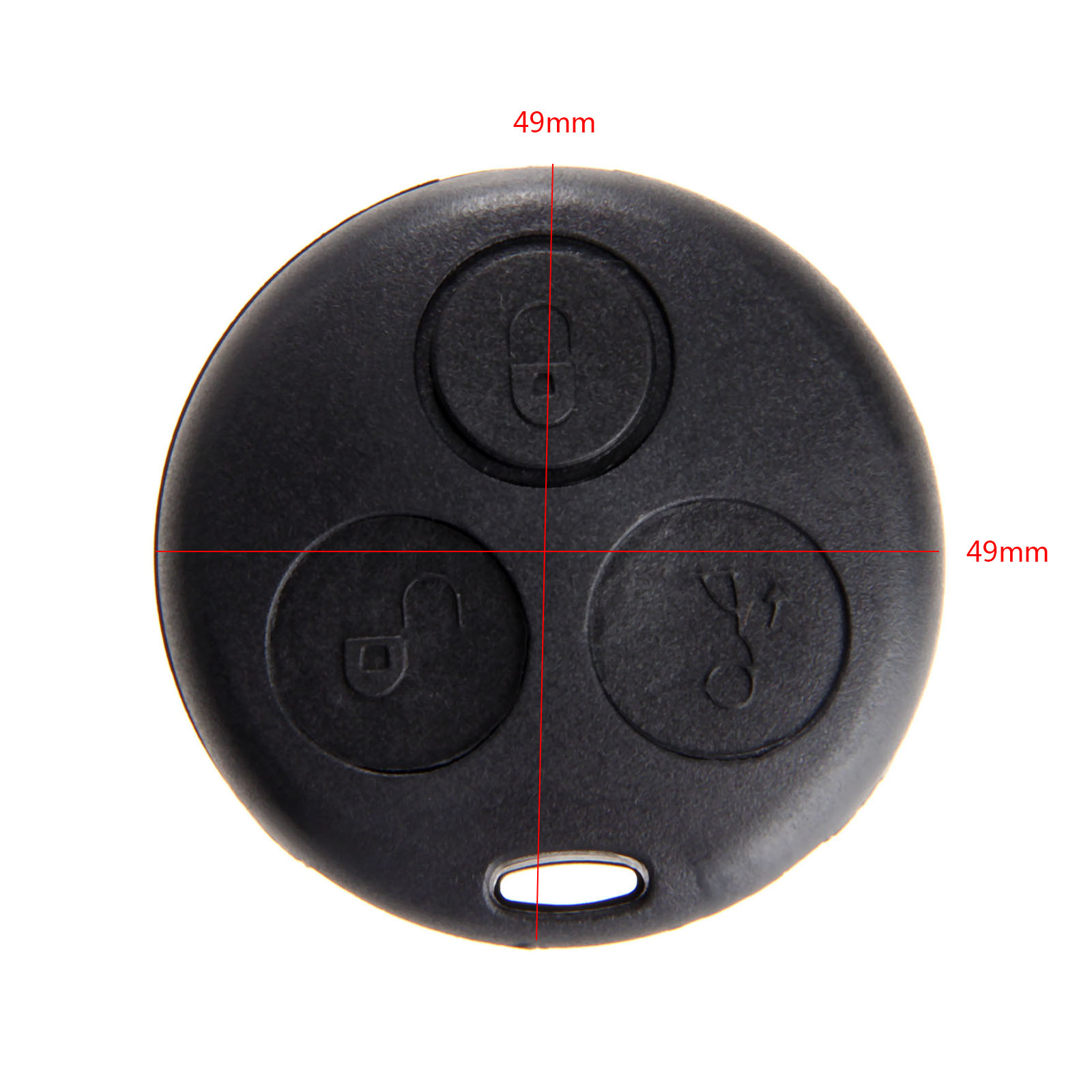 Image 2 - 3 Button Auto Key Shell Case Replacement Fob For Mercedes Benz SMART Fortwo City Coupe Cabrio Crossblade Roadster-in Car Key from Automobiles & Motorcycles