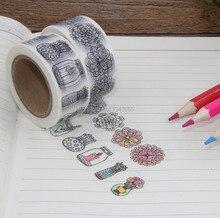 Дешевые 5 шт./лот декоративные клейкие ленты Бумага васи лента 15 мм * 5 м маскировки наклейки для скрапбукинга канцелярские окраска Васи ленты
