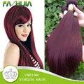 Новые поступления сырья индийские волосы прямые переплетения красный индийские человеческие волосы мокрые и волнистые Meches Bresilienne много 7а девственные прямые волосы