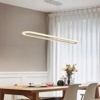 Black/White Minimalism Modern Led chandelier for dining room hanglamp office hanging lights nordic chandelier lighting fixtures