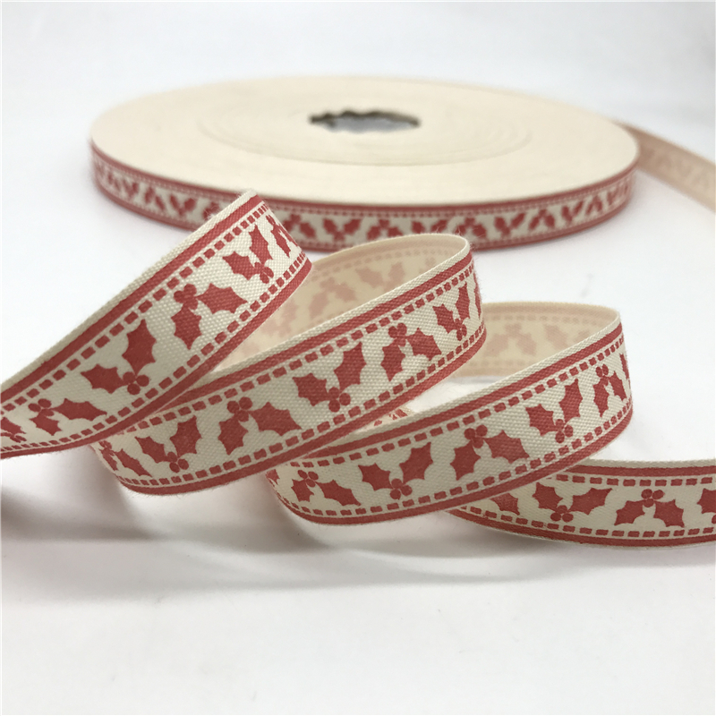 HTB1KKm6CKOSBuNjy0Fdq6zDnVXay 5 Yards/lot 15mm Cotton Ribbon Handmade Design Printed Cotton Ribbons For Wedding Christmas Decoration DIY Sewing Fabric