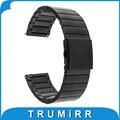 Faixa de relógio 22mm quick release para lg g watch w100 w110 urbano w150 asus zenwatch 1 2 seixo tempo cinta de aço inoxidável pulseira