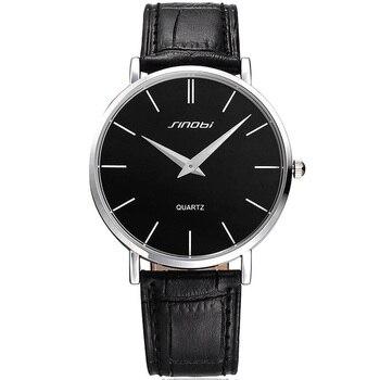 SINOBI Top Luxury Brand Men Watches Causal Wristwatch Men Business Wristwatch Genuine Leather band Clock Montres Hommes 2017 Наручные часы