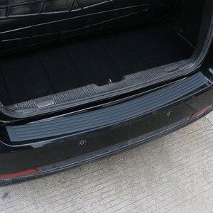 Placa de protección de maletero de coche Etiqueta de goma para parachoques trasero protección para Dacia Duster Logan Sandero Stepway Lodgy Mcv 2-estilo