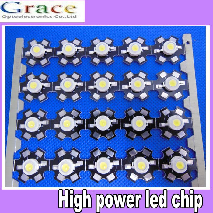 50 Pcs 3W cold White High Power Led Diodes 20000-25000k Lamp Beads