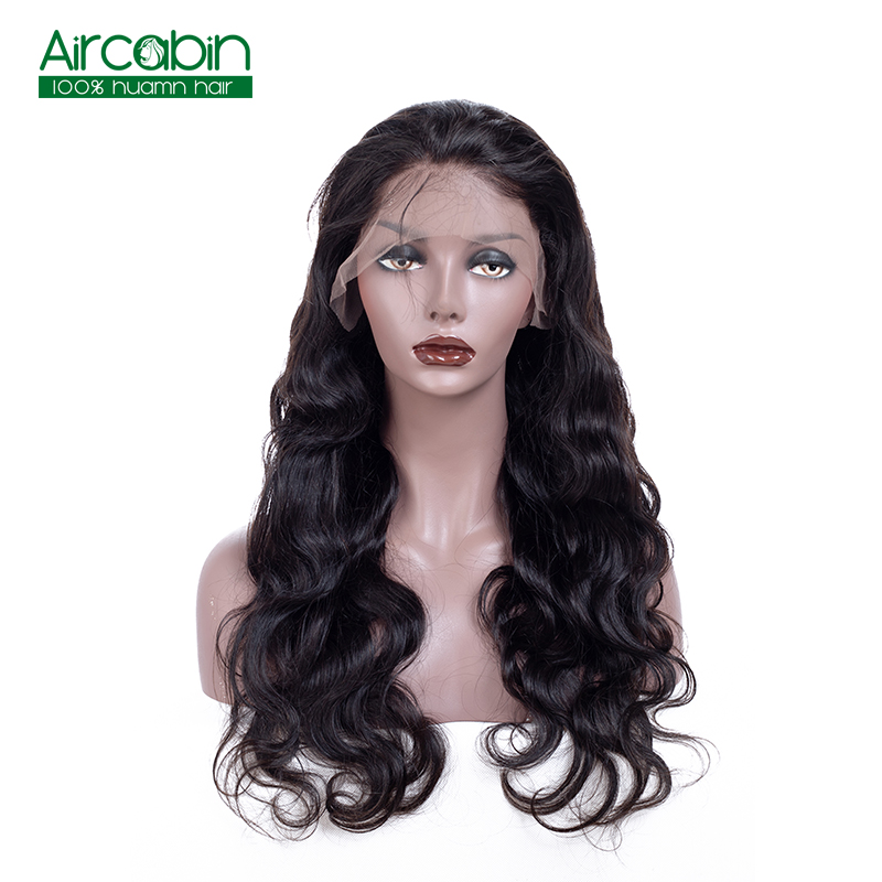 Body Wave Lace Front Wig Brazilian Lace Front Human Hair Wigs With Baby Hair AirCabin Remy Hair Wigs Natural Black