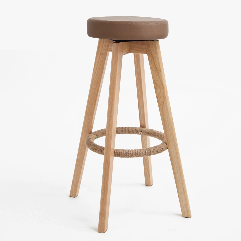of modern wood creative personality high chair bar stool simple fashion free shipping