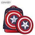 Tamaño grande nuevos vengadores capitán américa estilo de dibujos animados mochilas mochilas escolares para niños bolsas de hombro mochila infantil
