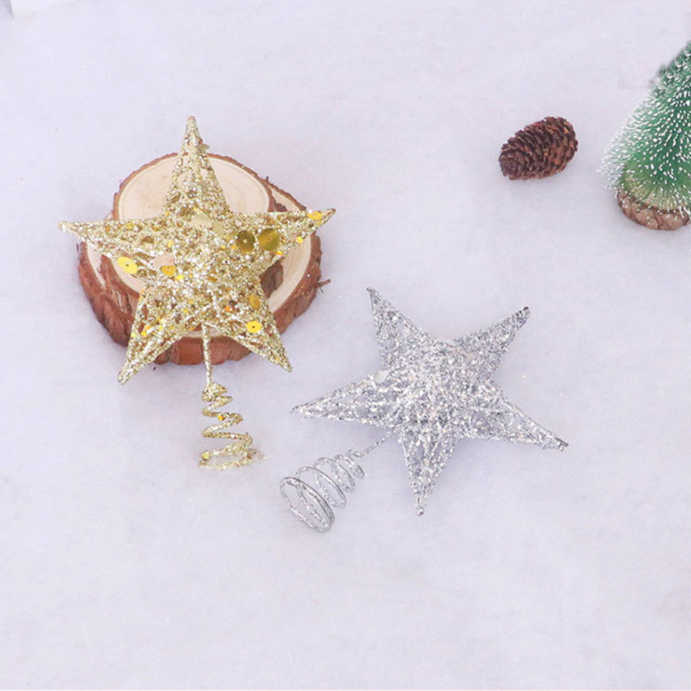 Hot Promo Ba938c Christmas Tree Topper Glitter Star Home Decor Merry Christmas Sequin Ornaments Tree Topper Colorful Craft Xmas Diy Accessories Cicig Co